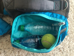 K9sOverCoffee.com | I fill my dog backpack with water bottles and toys