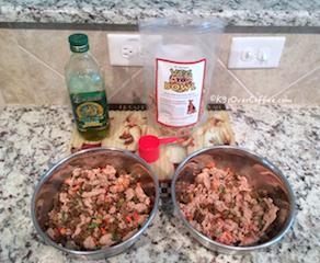 K9sOverCoffee | Preparing Veg-to-bowl with ground turkey