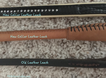 Different leather leashes