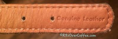 Genuine leather CoLLar