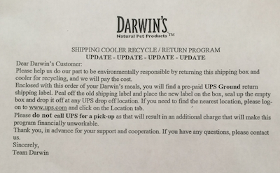 Darwin's Natural Pet Products Recycle:Return Program