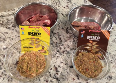 Grandma Lucy's freeze-dried pureformance chicken & rabbit with raw dog food