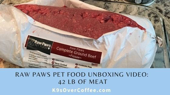 K9sOverCoffee | Raw Paws Pet Food Unboxing Video - 42 lb of meat