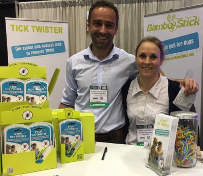 Meeting Stefan & Marion of O'Tom Tick Twister at the Global Pet Expo 2016 in Orlando, FL