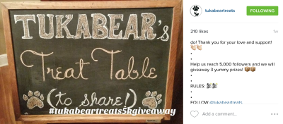 Tukabear's Treat Table Giveaway