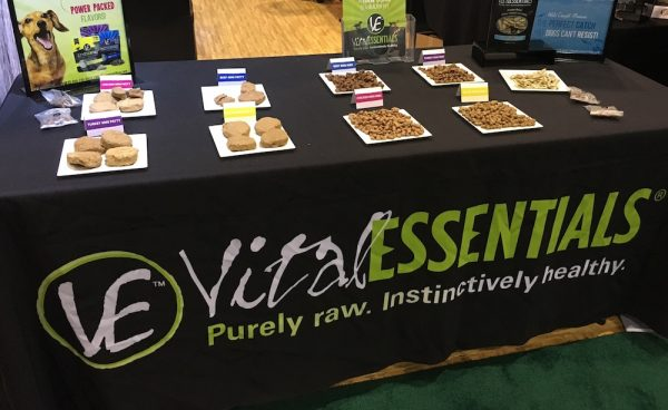 Vital Essentials Raw Frozen Patties & Freeze-Dried Mini Nibs, seen at The Global Pet Expo in 2016
