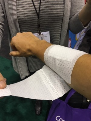 PawFlex Bandage Demonstrated On My Arm At The Global Pet Expo