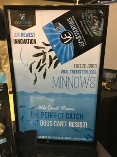 Freeze-Dried Minnows Treats from Vital Essentials, Seen At Global Pet Expo 2016