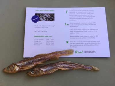 Real Pet Food Wild-Caught Air-Dried Smelt
