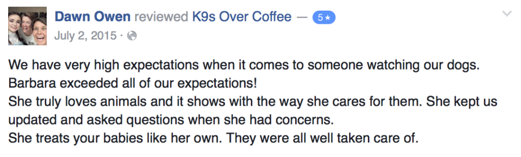 K9sOverCoffee |Pet Services Review 1