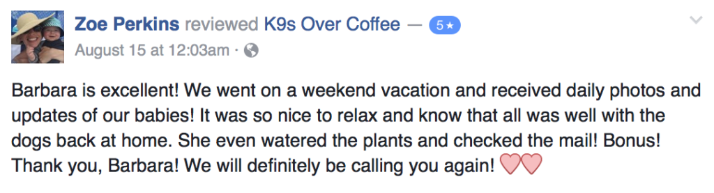 K9sOverCoffee Pet Services Review 9
