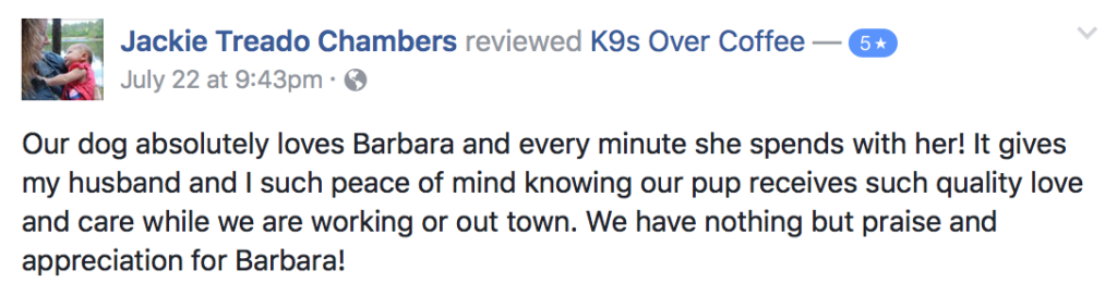 K9sOverCoffee | Reviews From Happy Clients 13