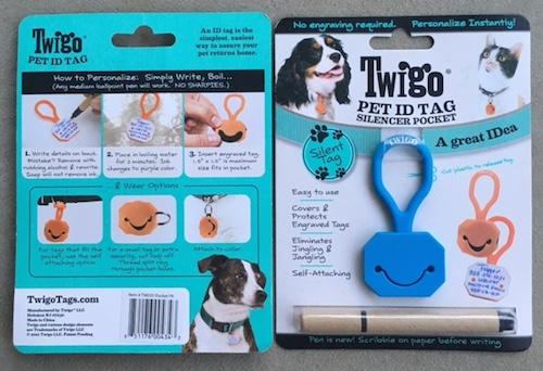 Twigo Pet ID Tag with Silencer Pocket