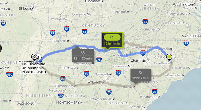 Mapping Out Our 760 Mile Road Trip