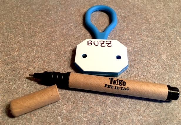 Personalizing Buzz's Twigo Pet ID Tag