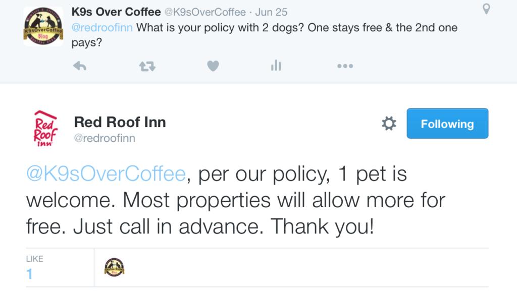 Red Roof Inn Tweeting With K9sOverCoffee