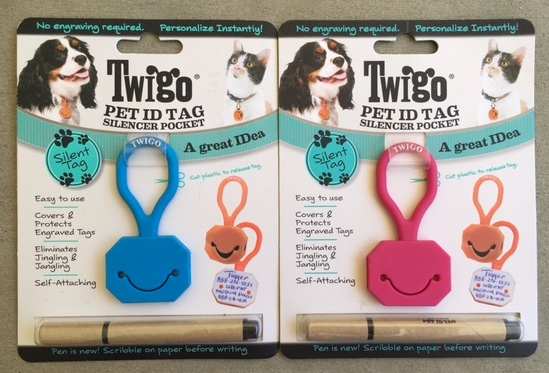 We Tested The Blue And Pink Silencer Twigo Pet ID Tags