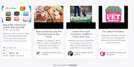 Search Results for Pet Food on Kickstarter