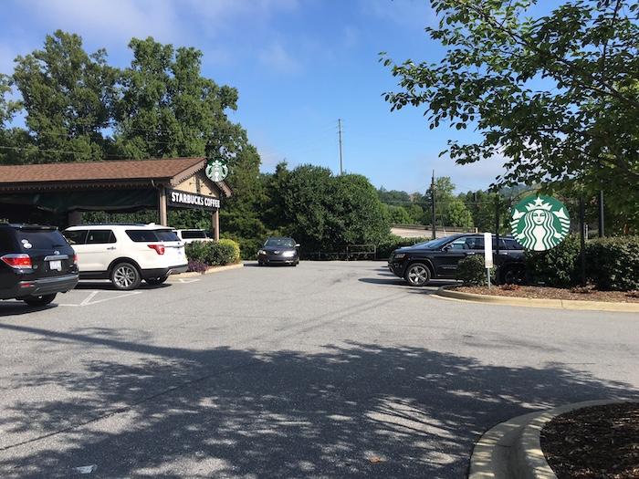 Starbucks Right Outside of Biltmore Estate Gate in Ashville, NC