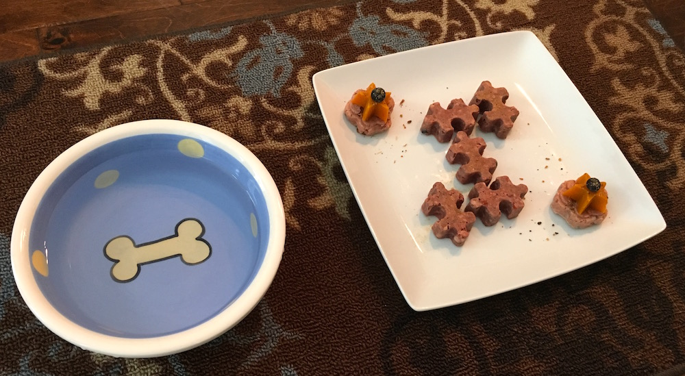 K9sOverCoffee | Missy's High-End Restaurant Inspired Raw Food Puzzle Dinner by K9sOverCoffee