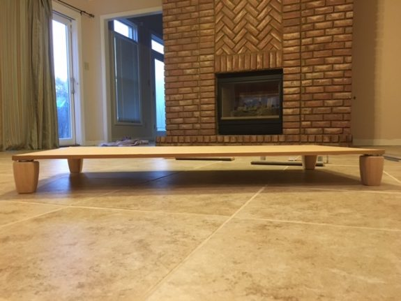 K9sOverCoffee | How We Built A Rustic DIY Dog Bed Frame - Legs Attached To Base