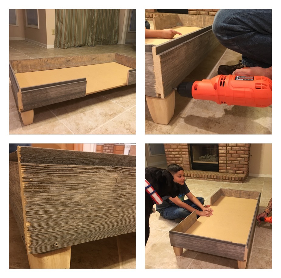 K9sOverCoffee | How We Built A Rustic DIY Dog Bed Frame, Step 3