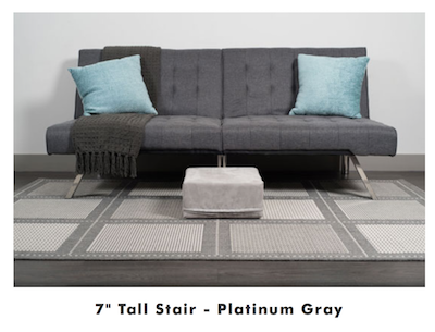 K9sOverCoffee | Gentle Climbing With Indoor Dog Ramp & Stairs - Stair in Platinum Gray