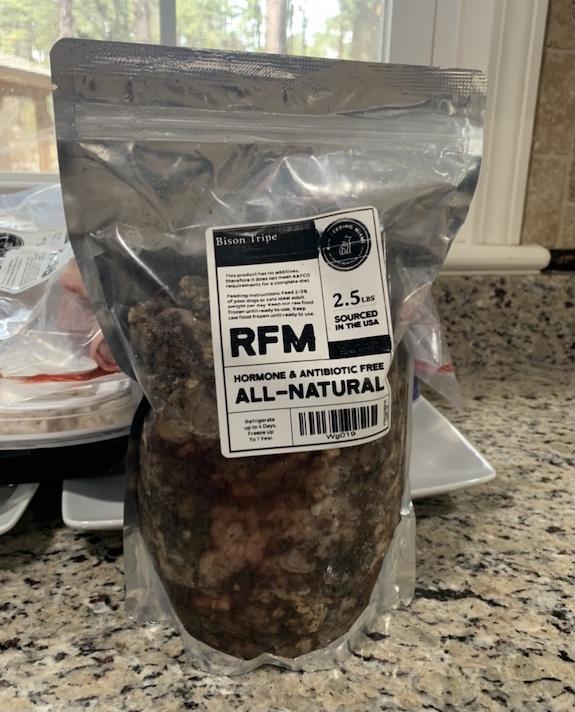 K9sOverCoffee. com   Bison green tripe from Raw Feeding Miami