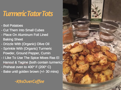 K9sOverCoffee | Recipe For Turmeric Tator Tots