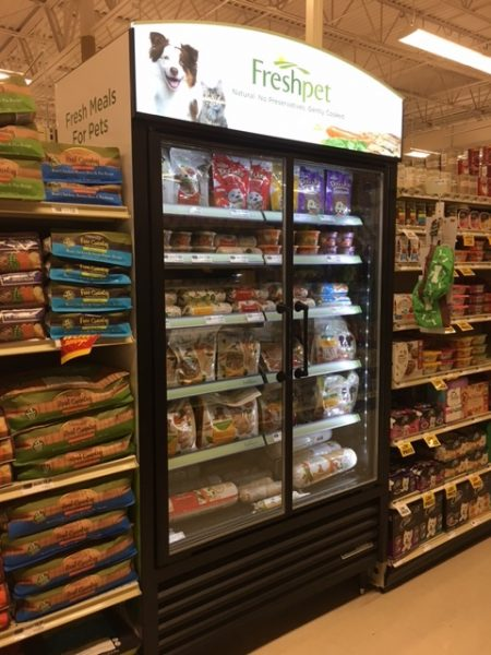 K9sOverCoffee | Why I Won't Feed My Dogs Freshpet On A Regular Basis - Freshpet Freezer In Local Country Grocery Store