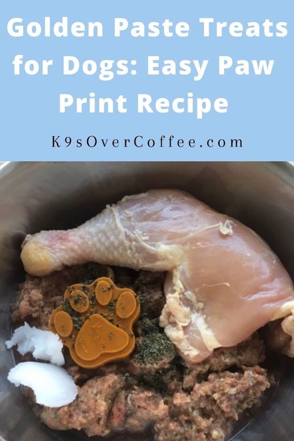 Golden Paste Treats for Dogs: Easy Paw Print Recipe