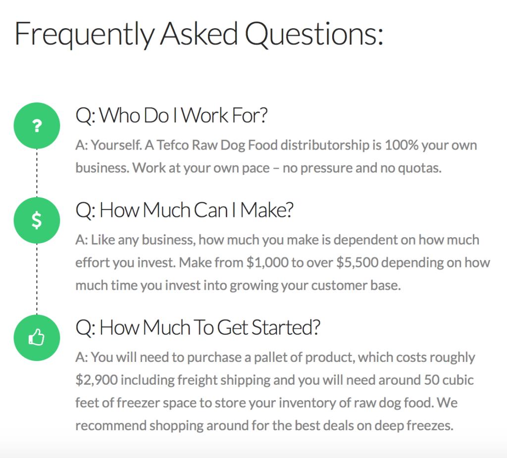 K9sOverCoffee | FAQs For TEFCO Raw Dog Food Distributors