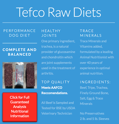 K9sOverCoffee | TEFCO Performance Dog Diet