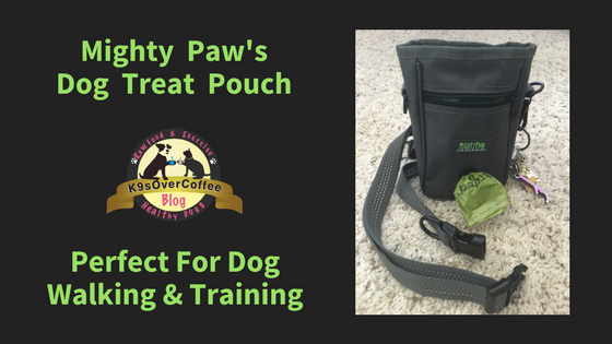 K9sOverCoffee | Mighty Paws Dog Treat Pouch - Perfect For Dog Walking & Training