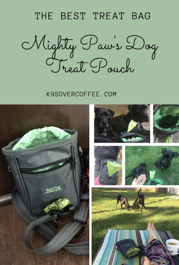 K9sOverCoffee.com   The Best Treat Bag - Mighty Paw's Dog Treat Pouch