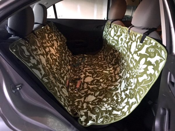 K9sOverCoffee | Our New Car Seat Cover:Hammock Amarillo By Morning From Molly Mutt