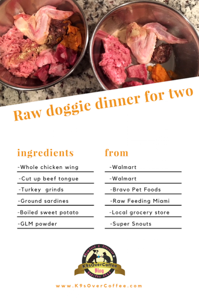 Raw Dog Food Recipe for 2 dogs