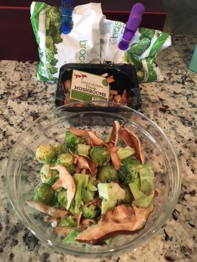 K9sOverCoffee | I used shiitake mushrooms, broccoli, and brussels sprouts for my homemade dog cancer treats