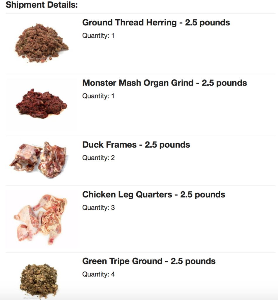K9sOverCoffee | Our latest order of raw meat for dogs from Raw Feeding Miami