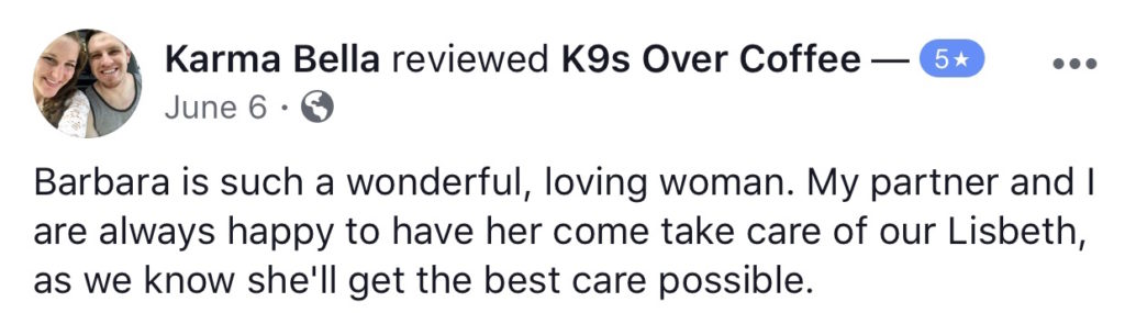 K9sOverCoffee | Happy Client Review #15