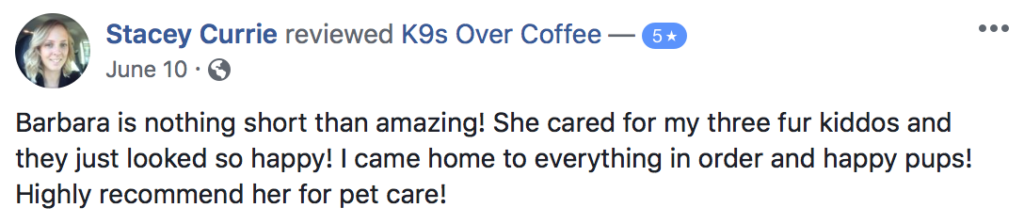 K9sOverCoffee | Happy Client Review #16