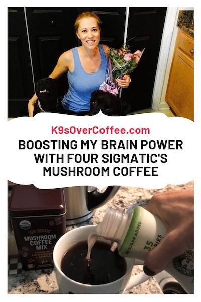 K9sOverCoffee.com | Boosting my brain power with four sigmatic's mushroom coffee