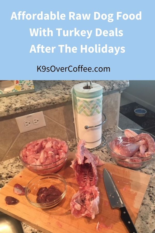 K9sOverCoffee.com | Affordable raw dog food with turkey deals after the holidays