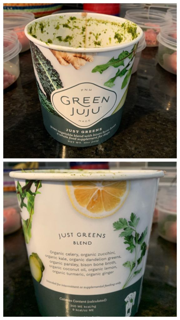 K9sOverCoffee.com | Raw Meal Prep for my dog with Green Juju