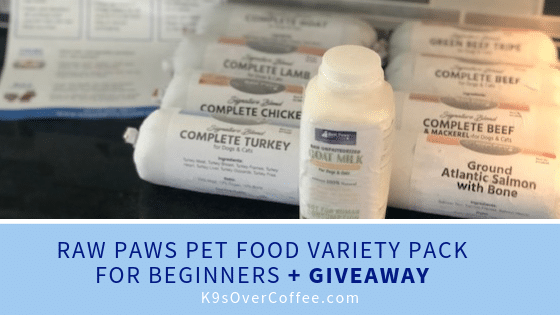 K9sOverCoffee.com | Raw Paws Pet Food Variety Pack for beginners + giveaway through June 30, 2019