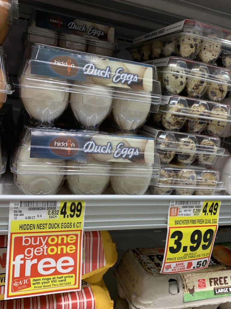 K9sOverCoffee.com | Duck eggs for my raw dog food on sale at a local grocery store