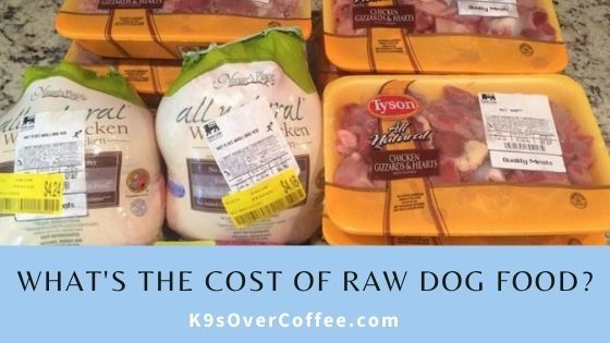What's the cost of raw dog food?