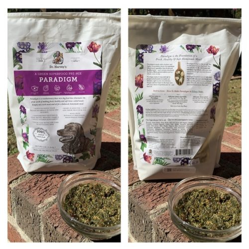 K9sOverCoffee.com | I use Dr. Harvey's Green Superfood Pre-Mix Paradigm for my raw dog food