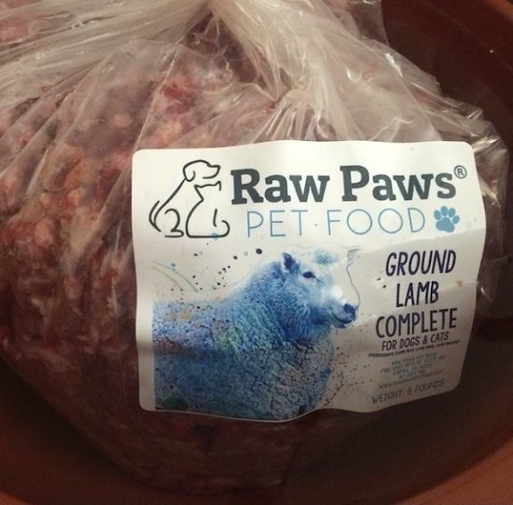 What's the cost of raw dog food? Ground lamb complete from Raw Paws Pet Food