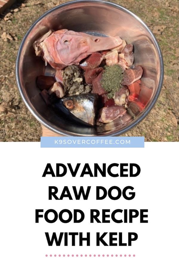 K9sOverCoffee.com | Advanced raw dog food recipe with kelp